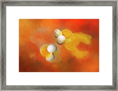 Eggs Framed Print by Carolyn Marshall