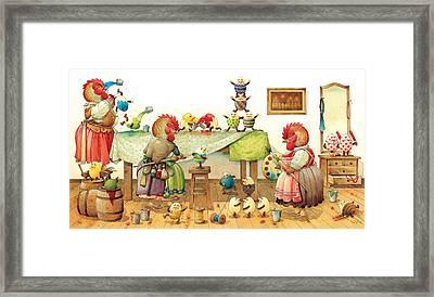 Eggs Dyeing Framed Print by Kestutis Kasparavicius