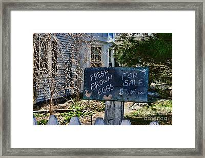 Eggs For Sale Country Charm Framed Print by Paul Ward
