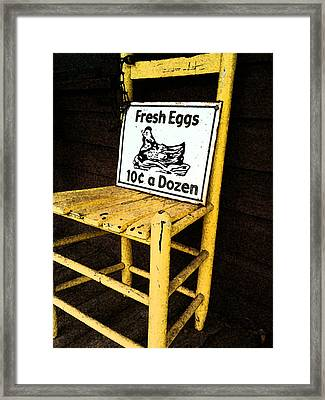 Eggs For Sale Framed Print by Lori Mellen-Pagliaro