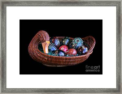 Eggs In A Goose Basket Framed Print