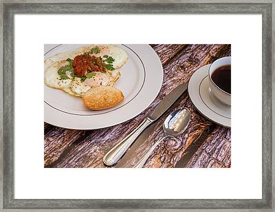 Eggs With Salsa And Toast #2 Framed Print