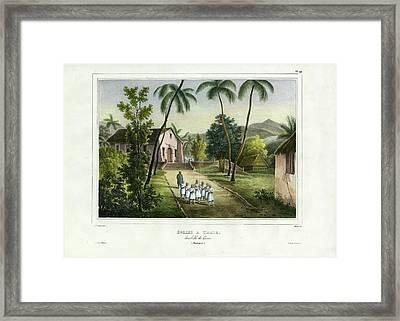 Eglise A Guam Church On Guam Framed Print
