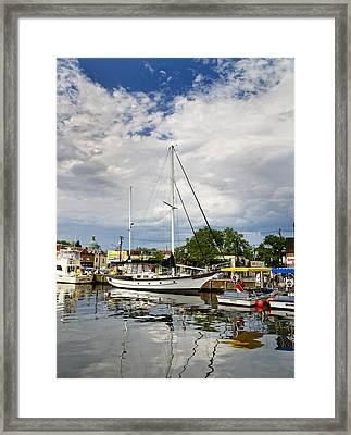 Ego Alley Annapolis Maryland Framed Print