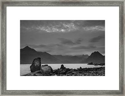 Egol Beach On The Isle Of Skye In Scotland Framed Print