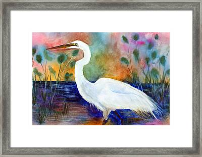 Egret 2 Framed Print by Tina Storey
