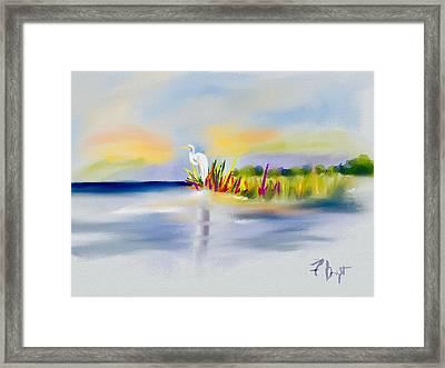 Egret Bliss Framed Print