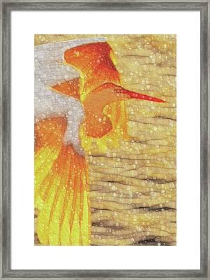 Egret Framed Print by Jack Zulli