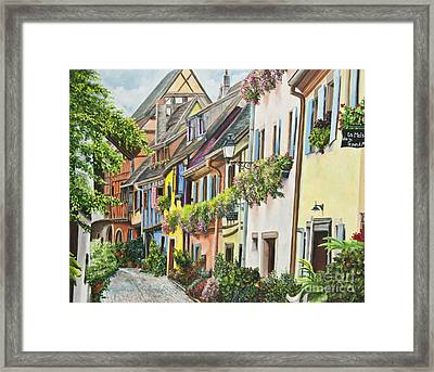 Eguisheim In Bloom Framed Print by Charlotte Blanchard