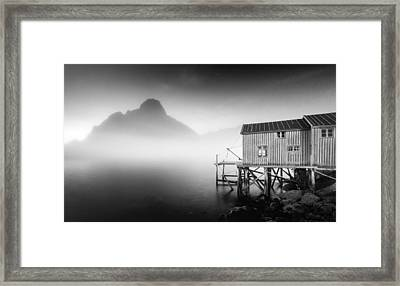 Egulfed By Mist Framed Print by Alex Conu