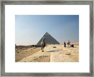 Egypt - Pyramid3 Framed Print by Munir Alawi