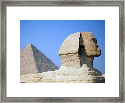 Egypt - Pyramids Abu Alhaul Framed Print by Munir Alawi