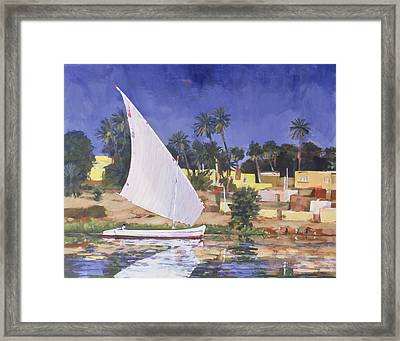 Egypt Blue Framed Print