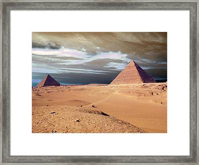 Egypt Eyes Framed Print by Munir Alawi