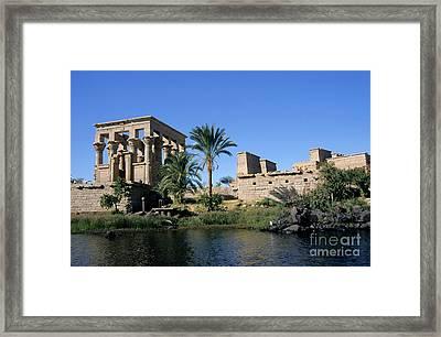 Egypt Philae Temple Framed Print by Sami Sarkis