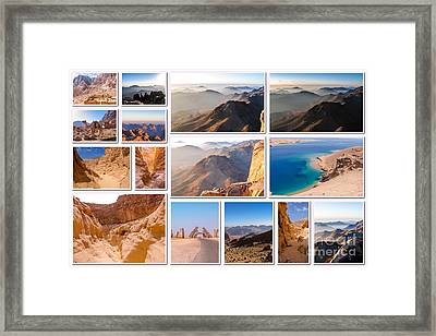 Egypt Pictures Collage Framed Print by Benny Marty