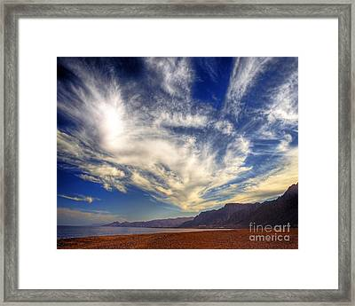 Egypt Sahara Desert Red Sea Night Sky Image Framed Print by Chris Smith
