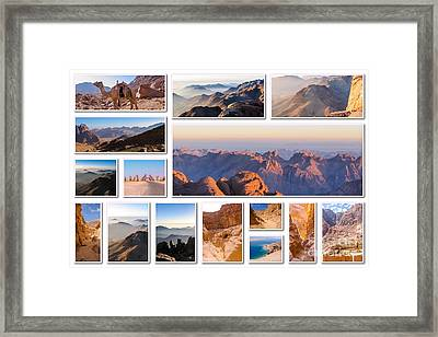 Egypt Sinai Collage Framed Print by Benny Marty