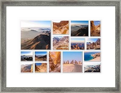 Egypt Sinai Peninsula Collage Framed Print by Benny Marty