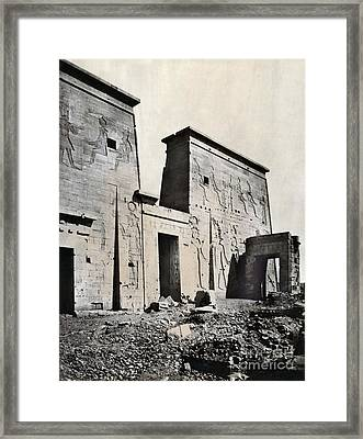 Egypt: Temple Of Isis Framed Print by Granger
