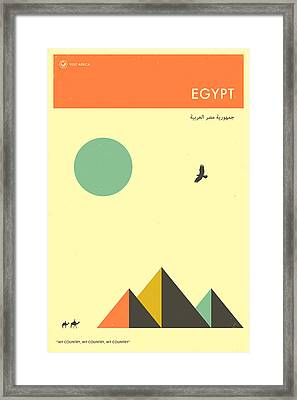 Egypt Travel Poster Framed Print by Jazzberry Blue