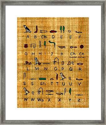 Egyptian Alphabet Framed Print