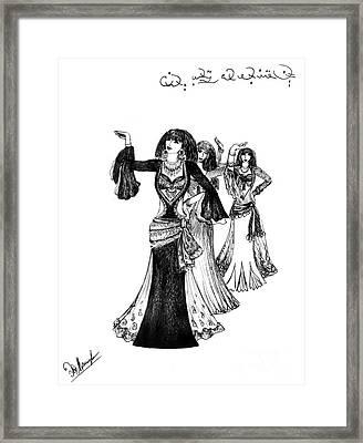 Egyptian Belly Dancers Framed Print