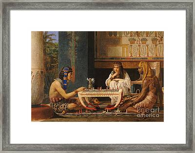 Egyptian Chess Players Framed Print