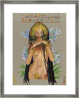 Egyptian Cotton Framed Print