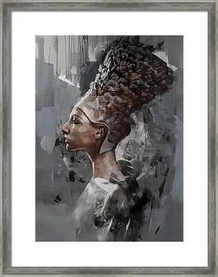 Egyptian Culture 14b Framed Print by Maryam Mughal