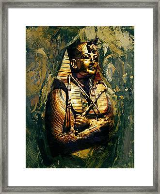 Egyptian Culture 3b Framed Print by Maryam Mughal