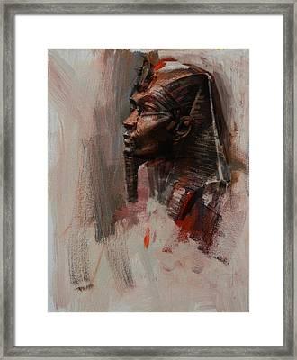 Egyptian Culture 6b Framed Print by Maryam Mughal