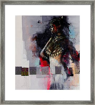 Egyptian Culture 80b Framed Print by Maryam Mughal