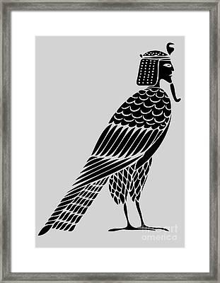 Egyptian Demon - Bird Of Souls Framed Print by Michal Boubin