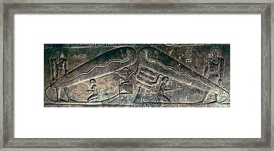 Egyptian Dendera Lightbulbs Sculpture Framed Print