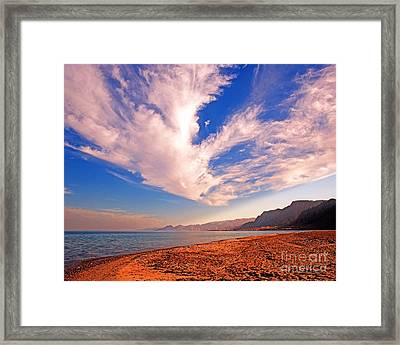 Egyptian Desert Coast And The Red Sea Framed Print by Chris Smith