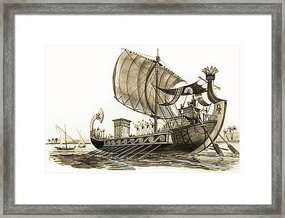 Egyptian Galley Framed Print by Peter Jackson