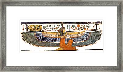 Egyptian Goddess Maat With Outstretched Wings Framed Print