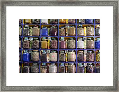 Egyptian Herbs And Spices Framed Print by Joana Kruse