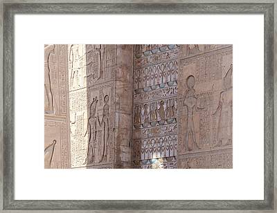 Framed Print featuring the photograph Egyptian Hieroglyphs by Silvia Bruno
