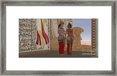Egyptian King And Queen Framed Print