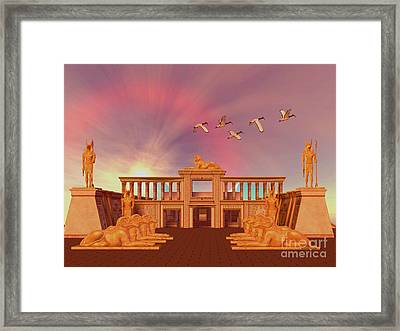 Egyptian Kingdom Framed Print