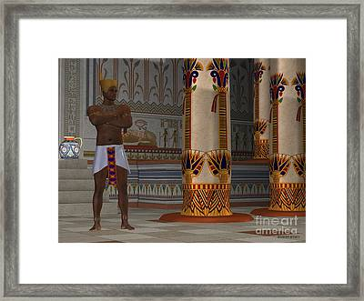 Egyptian Man In Palace Framed Print
