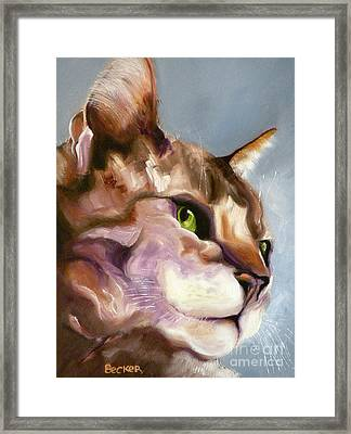Egyptian Mau Princess Framed Print