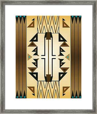 Egyptian Moderne Framed Print by Tara Hutton