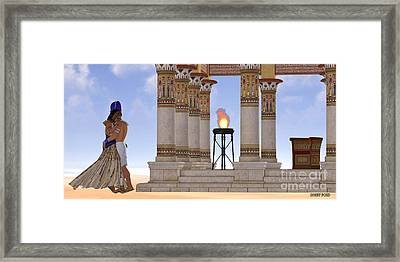 Egyptian Pharaoh And Queen Framed Print