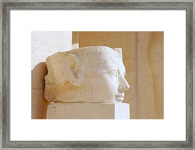 Egyptian Queen Hatchepsut Head Framed Print