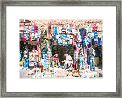 Egyptian Shop Keepers 2 Framed Print by Roy Pedersen