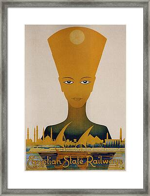 Egyptian State Railways - Vintage Travel Poster Framed Print