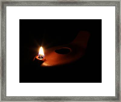 Egyptian Style Lamp - Terracotta 1 Framed Print